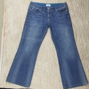 Paige Jeans Distressed Medium Wash Bootcut Size 34